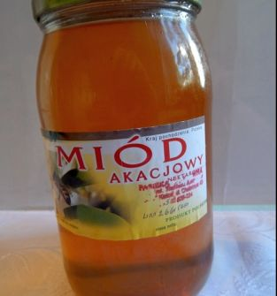Miód akacjowy 0,9 l